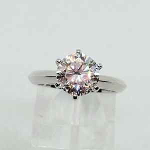 2 ct Certified Moissanite Solitaire Ring